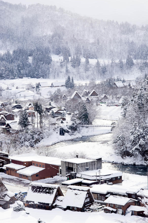 Villages historiques de  et de Gokayama de Shirakawa-gÅ photographie stock libre de droits
