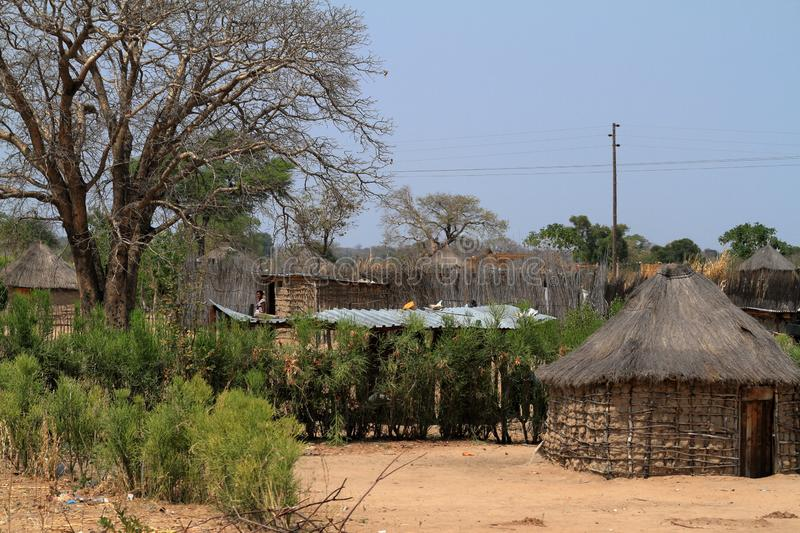 Villages and poverty in Namibia. A Villages and poverty in Namibia stock photography