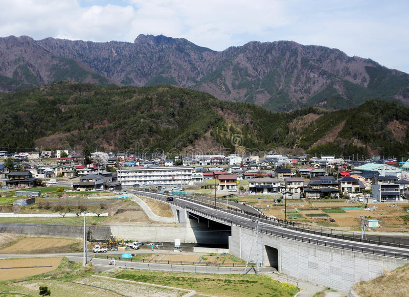 Villages ruraux au Japon photographie stock