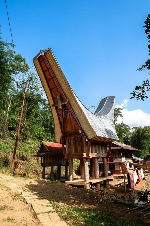 The villages at Tana Toraja, Sulawesi. This photo was taken in Tana Toraja, Sulawesi, Indonesia. Tana Toraja is located in the norhtern highlands of South royalty free stock photography
