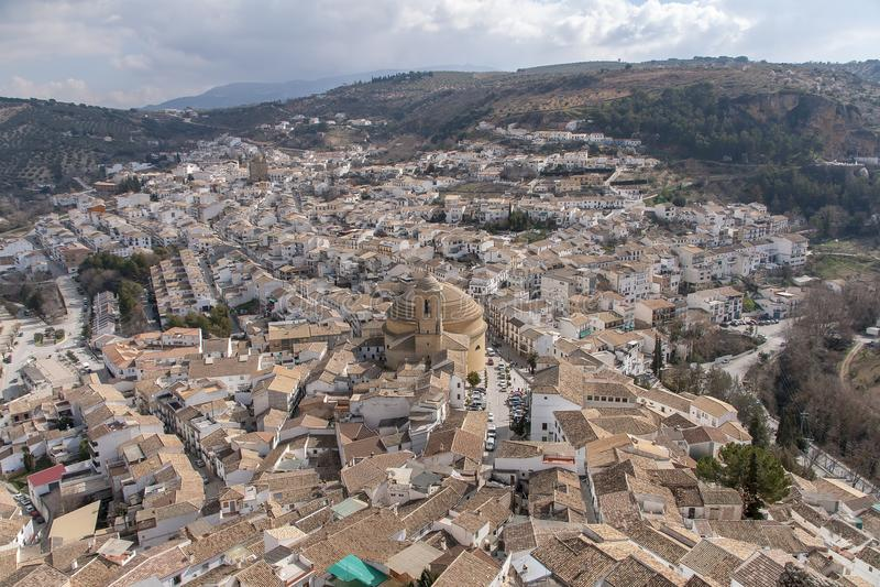 Villaggi dell'Andalusia, Montefrio nella provincia di Granada immagini stock libere da diritti