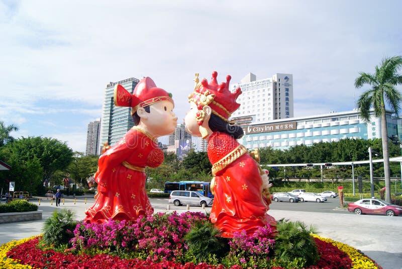Villaggi pieghi della cultura della porcellana di Shenzhen fotografie stock