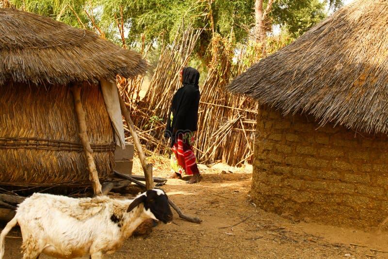 Villaggio africano fotografie stock libere da diritti