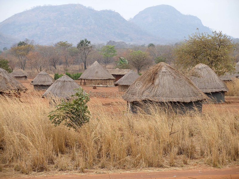 Villaggio africano nel Mozambico
