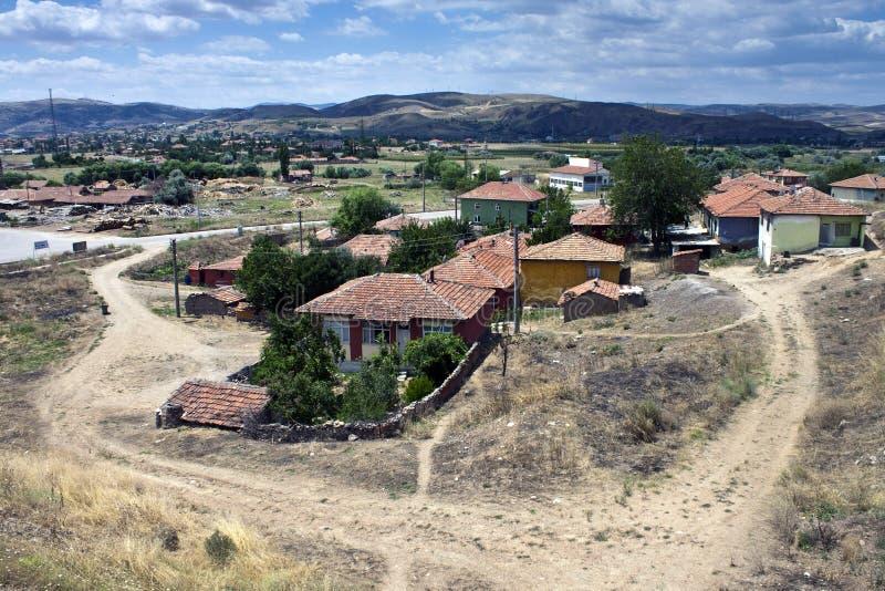 Villaggio in Anatolia centrale fotografia stock