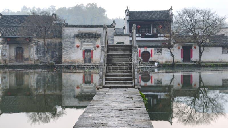 Villaggio antico in Cina fotografie stock libere da diritti