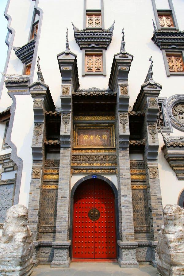 Villaggio antico cinese, città antica di Luodai immagini stock libere da diritti