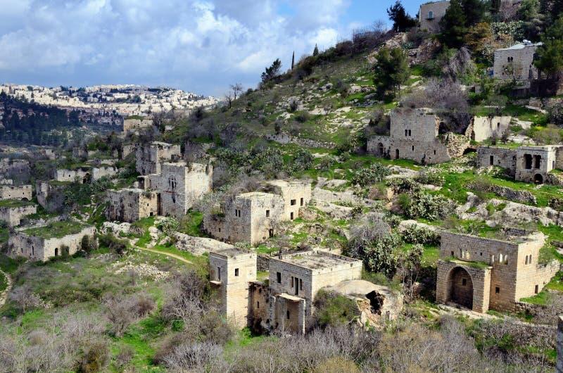 Villaggio arabo abbandonato fotografia stock libera da diritti