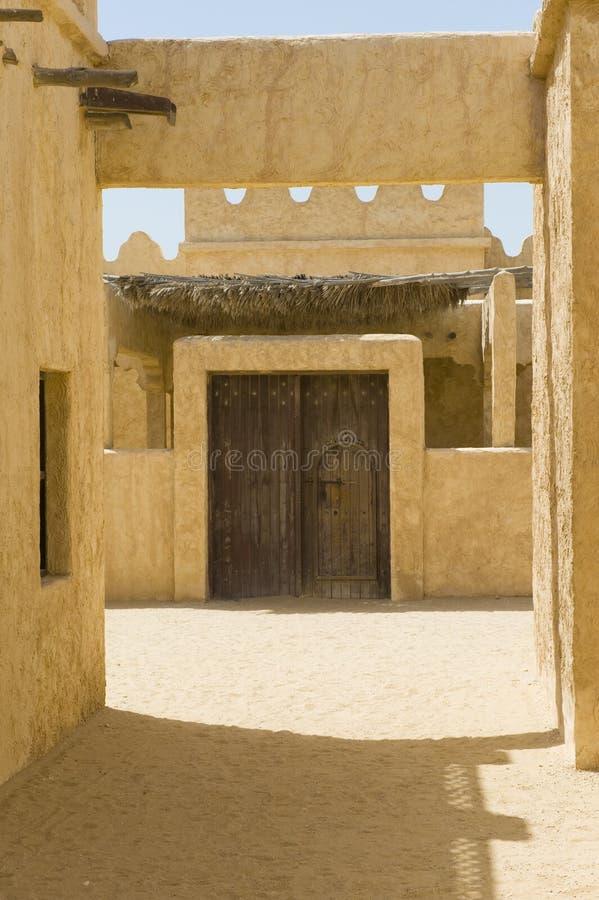 Villaggio arabo abbandonato immagine stock