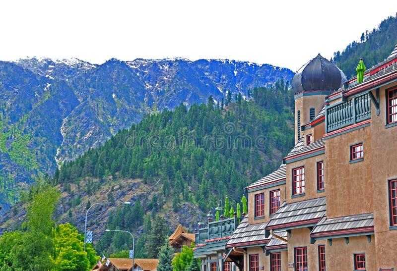 Villaggio bavarese Leavenworth fotografia stock