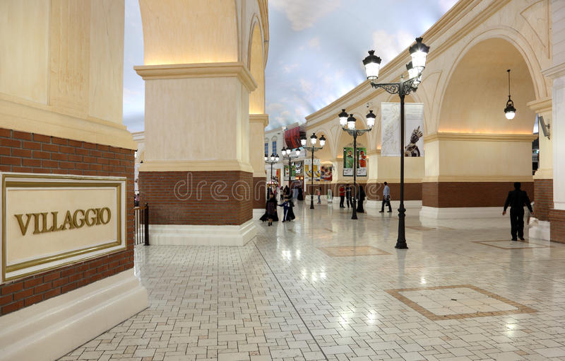 Villaggio centrum handlowe w Doha, Katar obraz royalty free