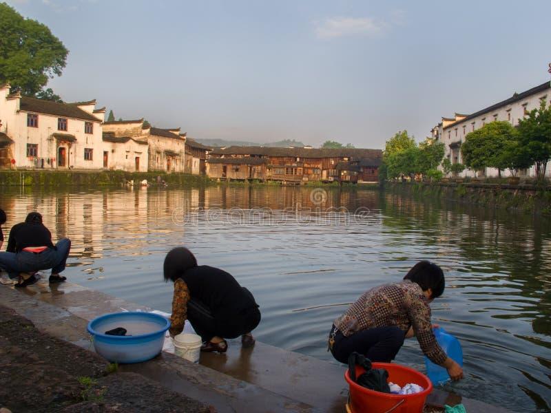 Villaggio cinese antico in sud della Cina, Zhugecun immagine stock