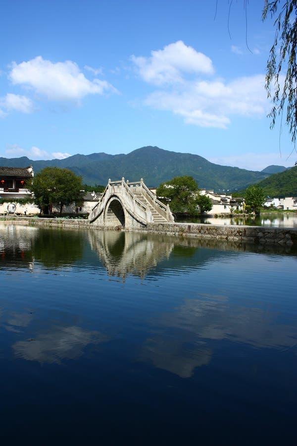 Villaggio cinese di Hongcun fotografia stock