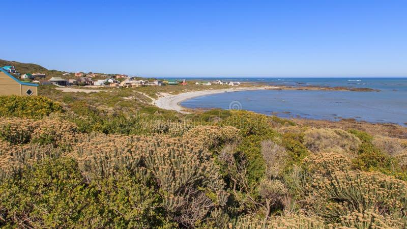 Villaggio costiero di Suiderstrand fotografie stock libere da diritti