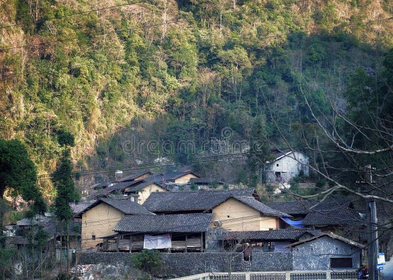 villaggio culturale, Lung Cam, Ha Giang, Vietnam immagini stock libere da diritti