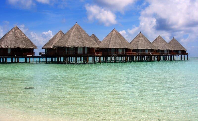 Villaggio dei Maldives fotografia stock libera da diritti