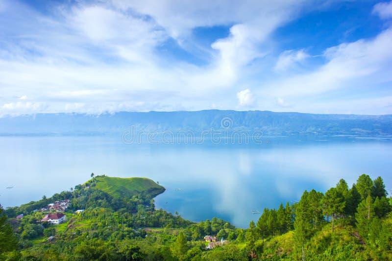 Villaggio del lago Toba immagini stock libere da diritti