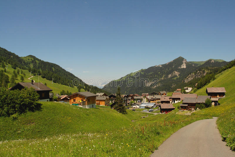 Villaggio del Lichtenstein immagini stock libere da diritti