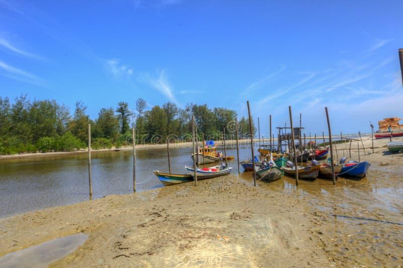 Villaggio del pescatore a Kuantan Pahang Malesia fotografie stock libere da diritti
