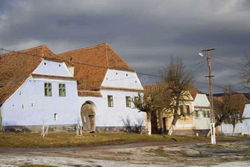 Villaggio del Saxon fotografie stock libere da diritti