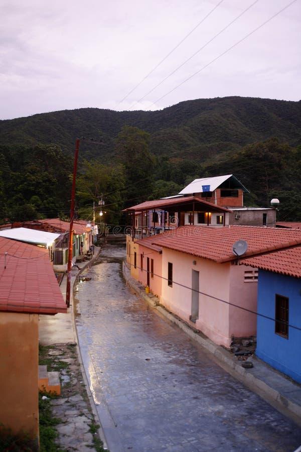 VILLAGGIO DEL SUDAMERICA VENEZUELA CHUAO fotografia stock