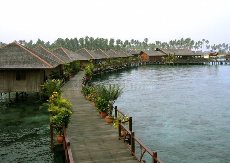 Download Villaggio Dell'acqua Di Sipidan Fotografia Stock - Immagine di bello, isola: 215726