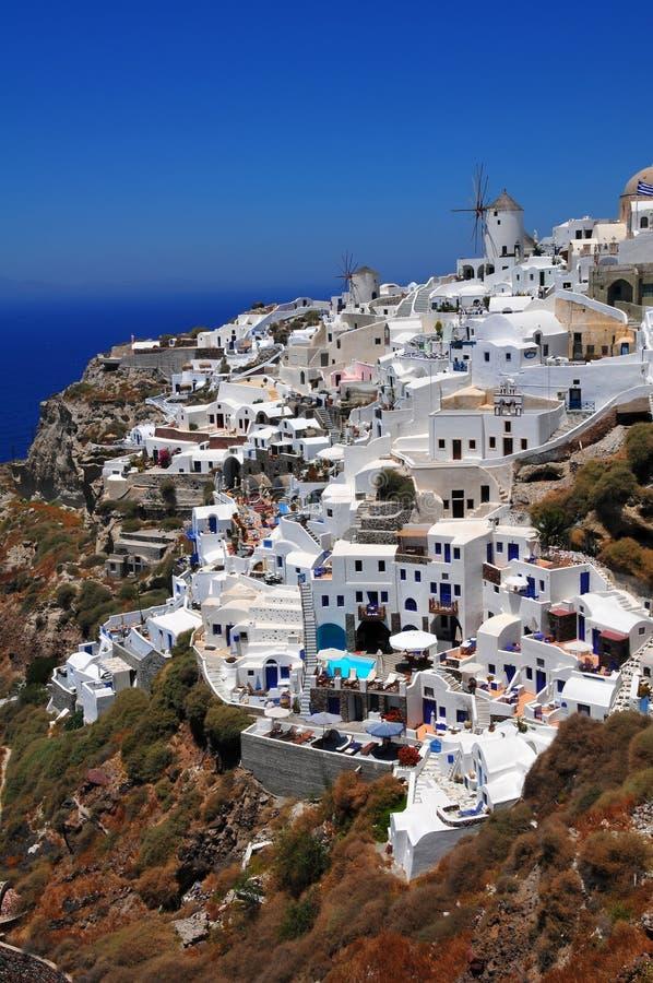 Villaggio dell'isola di Santorini, Oia fotografie stock libere da diritti