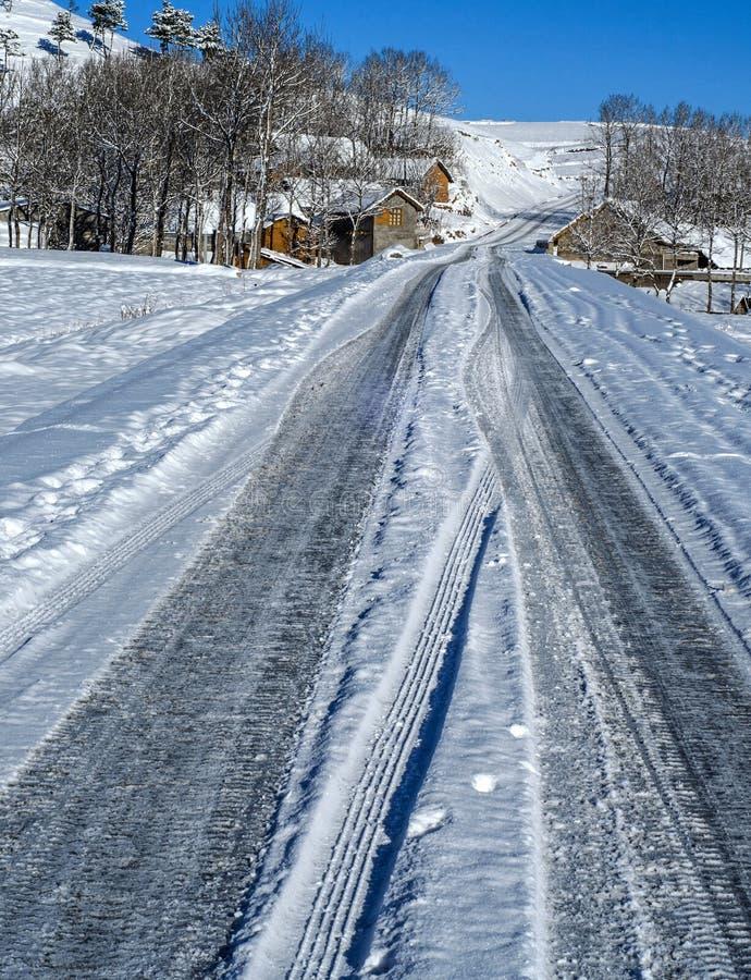 Villaggio della neve immagini stock