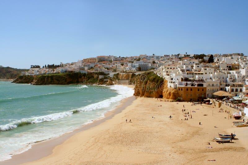 Villaggio della spiaggia fotografia stock libera da diritti