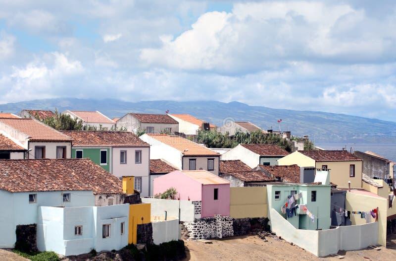 Villaggio delle Azzorre immagine stock