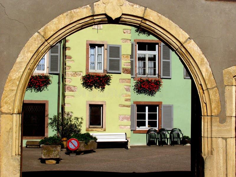 Villaggio di Alsacian immagine stock libera da diritti