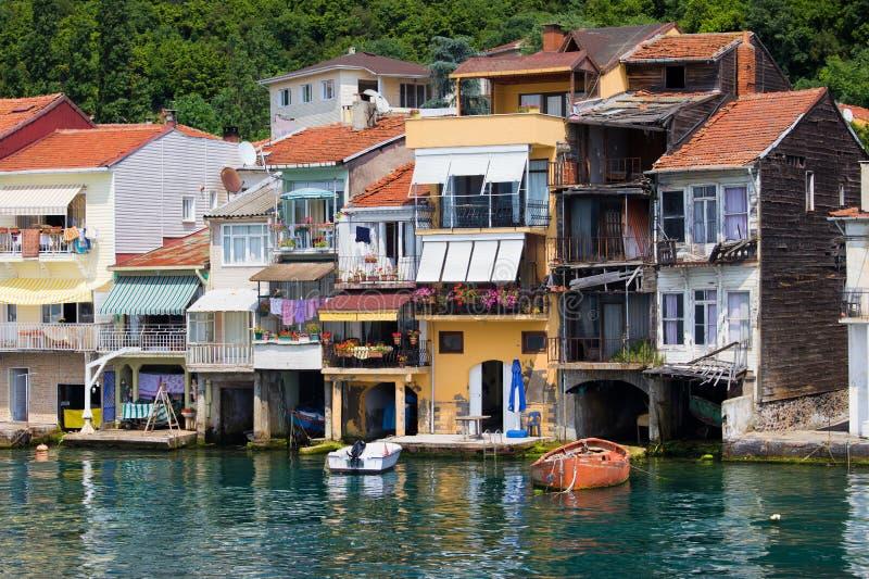 Villaggio di Anadolu Kavagi in Turchia immagini stock libere da diritti