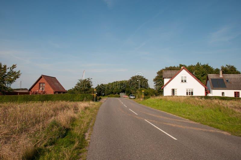 Villaggio di Askeby in Danimarca fotografia stock libera da diritti