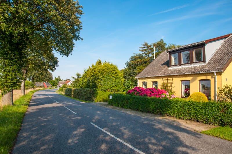 Villaggio di Askeby in Danimarca fotografia stock