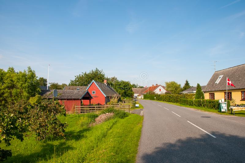 Villaggio di Askeby in Danimarca immagine stock
