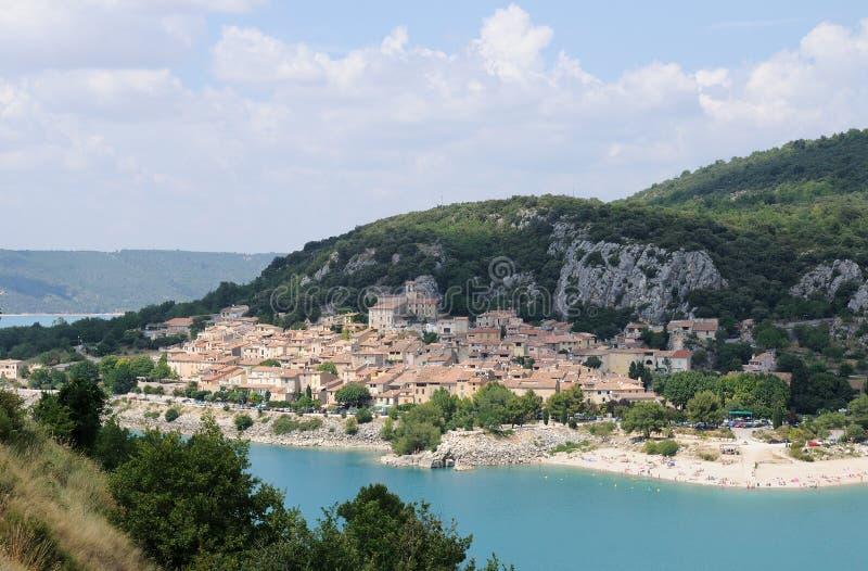 Villaggio di Bauduen fotografia stock libera da diritti