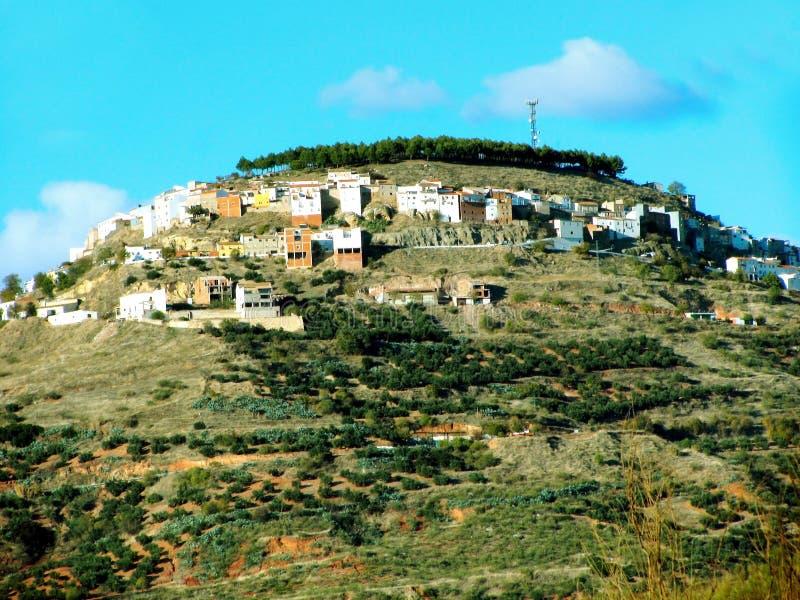 Villaggio di Chiclana de Segura a Jaen immagini stock libere da diritti