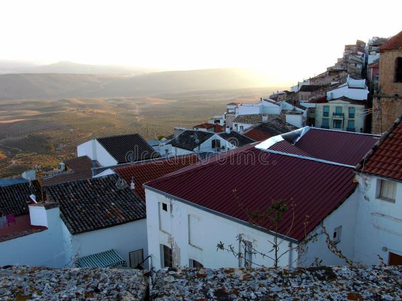 Villaggio di Chiclana de Segura a Jaen fotografie stock libere da diritti