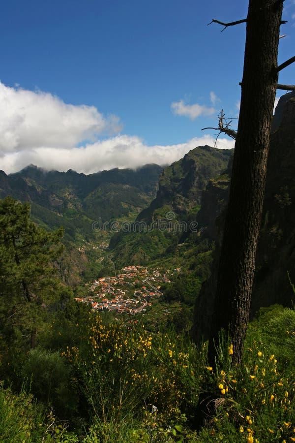 Villaggio di Curral das Freiras immagini stock libere da diritti