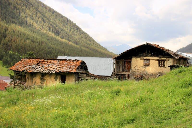 Villaggio di Diklo, regione di Tusheti (Georgia) fotografia stock