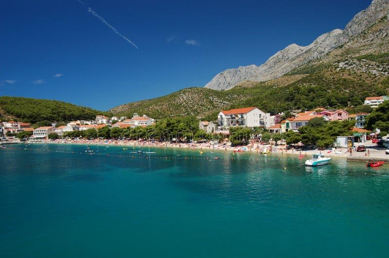 Villaggio di Drvenik nel Croatia fotografie stock