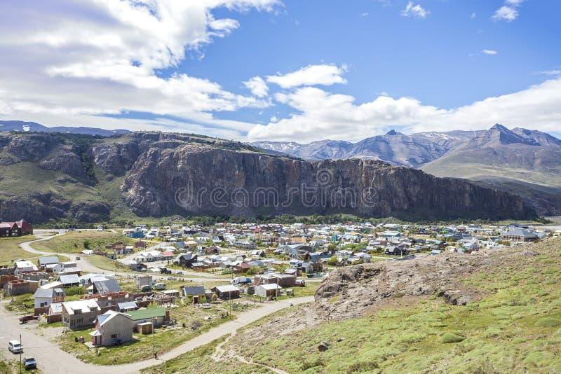 Villaggio di EL Chalten in Argentina. immagine stock libera da diritti
