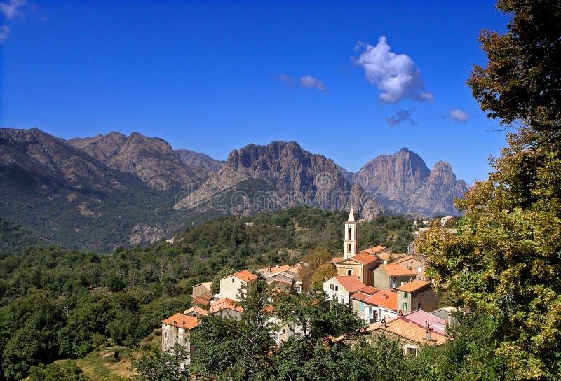 Villaggio di Evisa Corsica fotografia stock