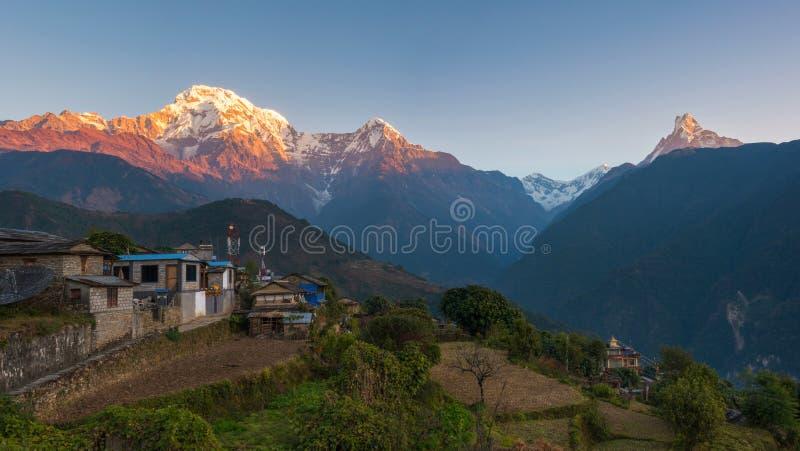 Villaggio di Ghandruk, Nepal immagini stock libere da diritti