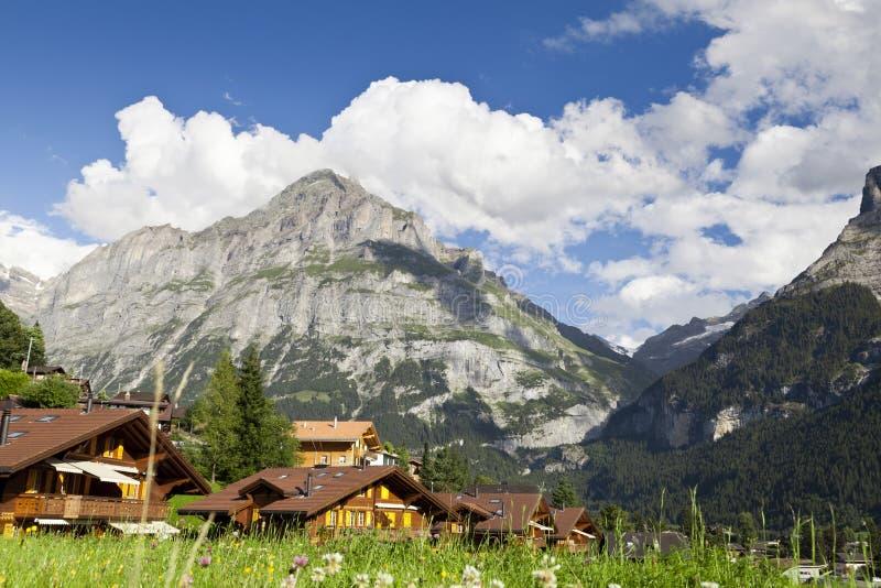Villaggio di Grindelwald fotografia stock libera da diritti