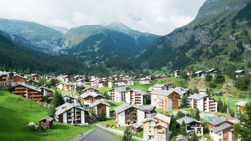 Villaggio di Grindelwald immagini stock