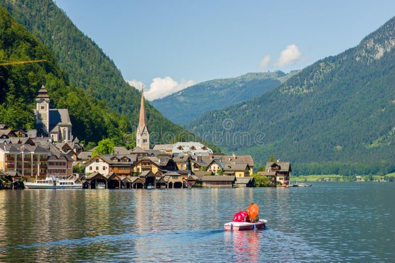 Villaggio di Hallstatt, Austria immagini stock