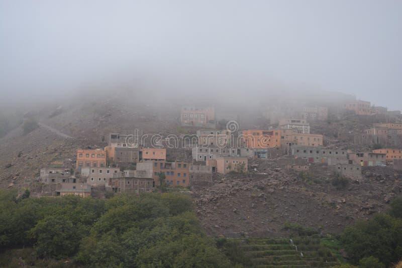 Villaggio di Imlil nel Marocco Africa del Nord fotografie stock libere da diritti
