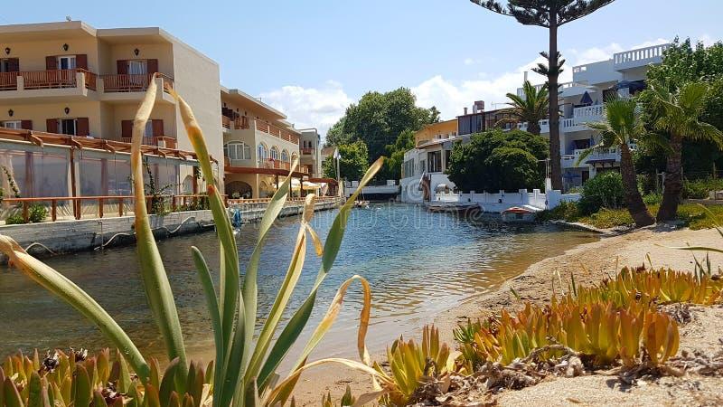 Villaggio di Kalyves, chania, Creta, Grecia immagine stock