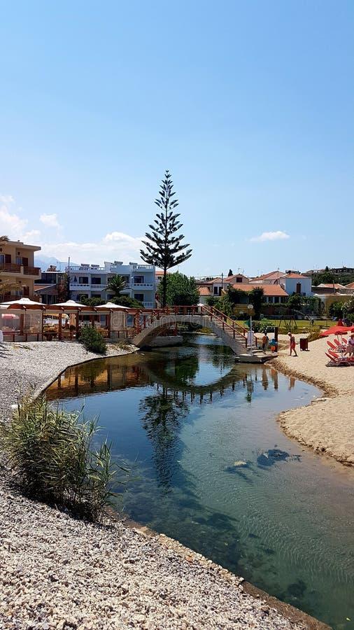 Villaggio di Kalyves, chania, Creta, Grecia immagini stock libere da diritti